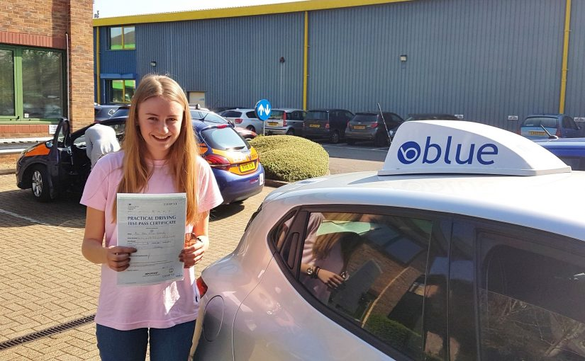 Abbey Docherty of Ascot, passed driving test Very First Time