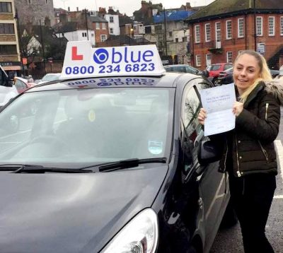 Slough driving test for Alice