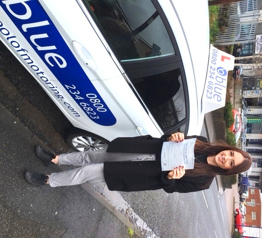 Amber Godfrey Passed Driving Test in Slough