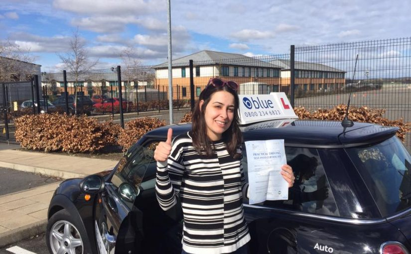 Congratulations to Noor who passed her driving test FIRST time today in Farnborough