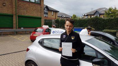 Chobham driving test pass for Dan Parkinson