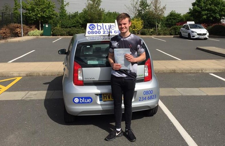 First Time Driving Test Pass in Farnborough for James Blundell, from Warfield