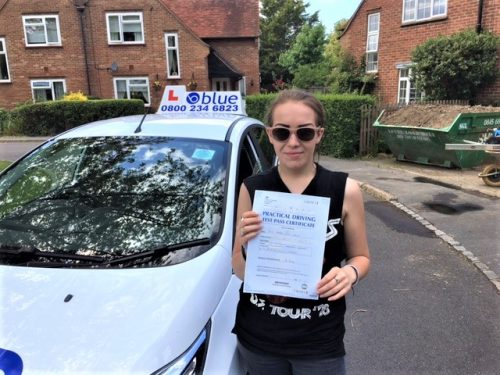 Hannah Grace of Fifield who passed her test on her first attempt