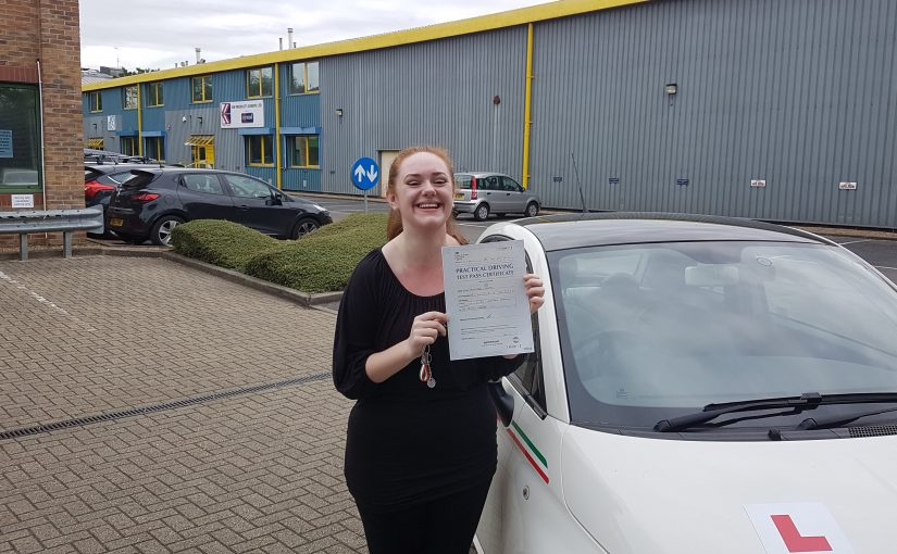 An amazing result for Emily Bull-Collett of Lightwater, Surrey who passed her driving test
