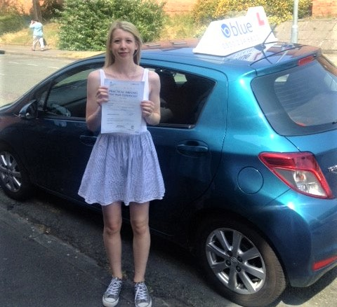 Reading Driving Test pass for Melissa Harrison of Bracknell First Time Pass