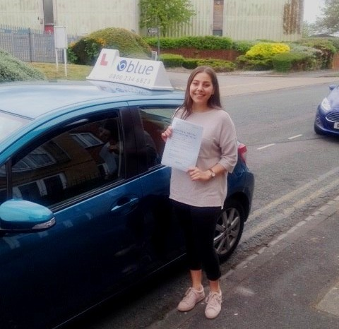 Meghan Knight from Wokingham passed driving test in Reading very 1st Attempt