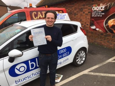 Slough Driving Test Pass for George Burton