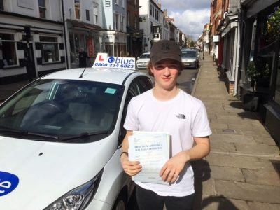 Slough Driving Test Pass for Thomas Rainbow