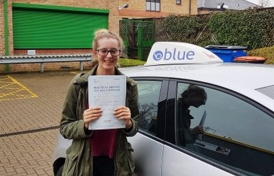 Windlesham Driving test pass for Cara Maguiness