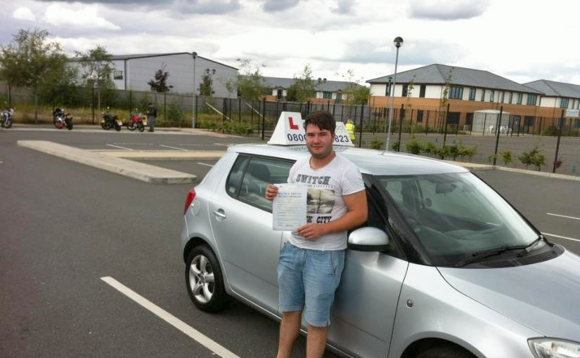 James Perry of Farnborough passed his driving test with four faults.