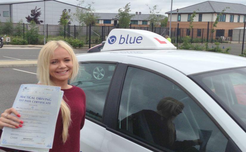 Rosamund Carey-Yard of Lightwater passed her driving test in Farnborough