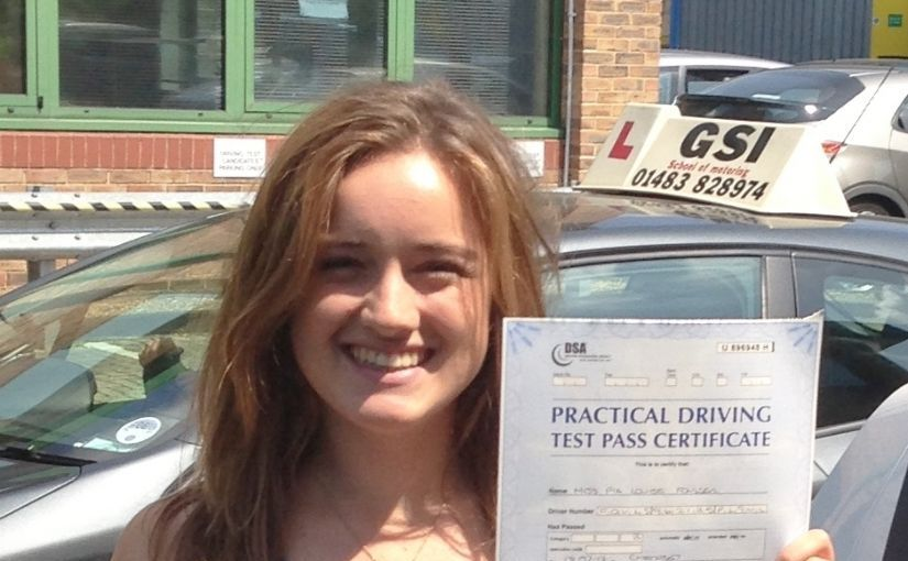 Pia of Twickenham, London passed her driving test FIRST TIME