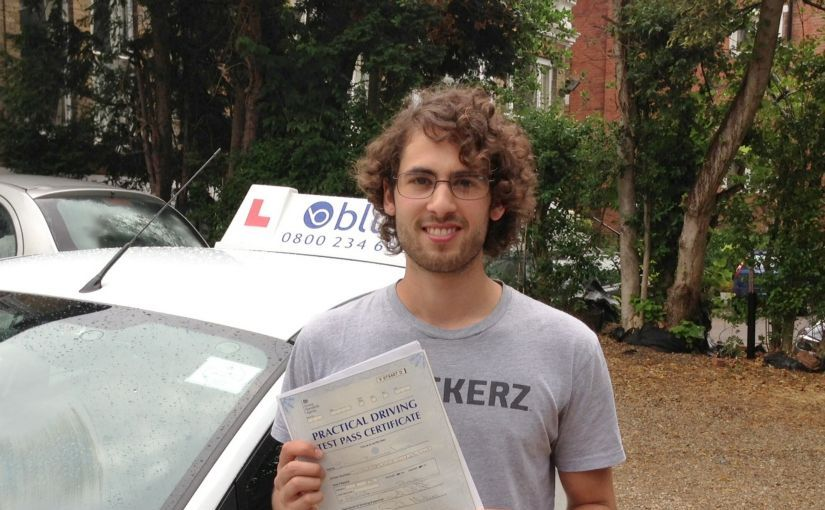 Julian of Windsor, passed his driving test in Slough