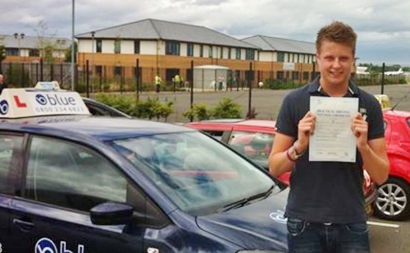 Well done Oli of Aldershot who passed his driving test in Farnborough