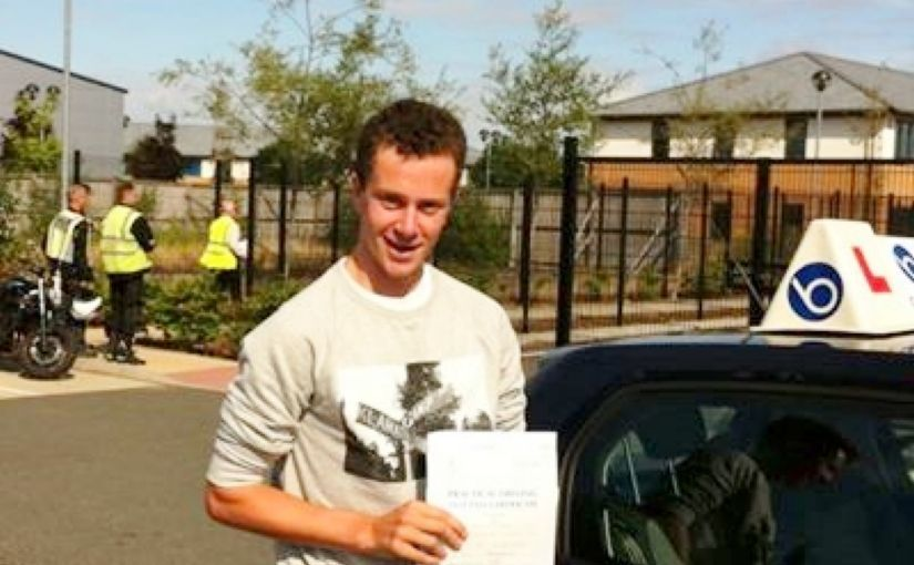 Well done Michael of Sandhurst who passed his driving test first time