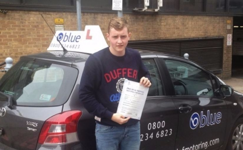 Thomas of Arborfield, Berkshire passed his driving test in Reading