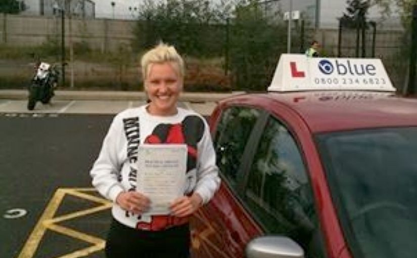 An Outstanding drive today by Saffron  of Bracknell who passed her driving test with only 1 (one) minor fault