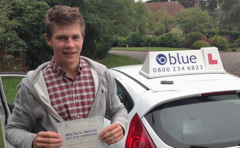 Congratulations to Alex of Windsor, Berkshire who passed his driving test on his FIRST