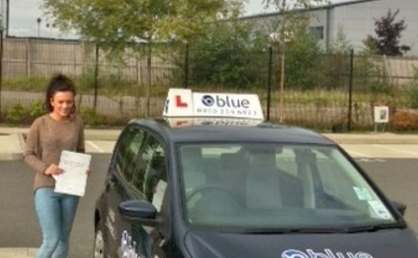 Congratulations to Lois of Yateley who Passed her driving test first time at Farnborough.