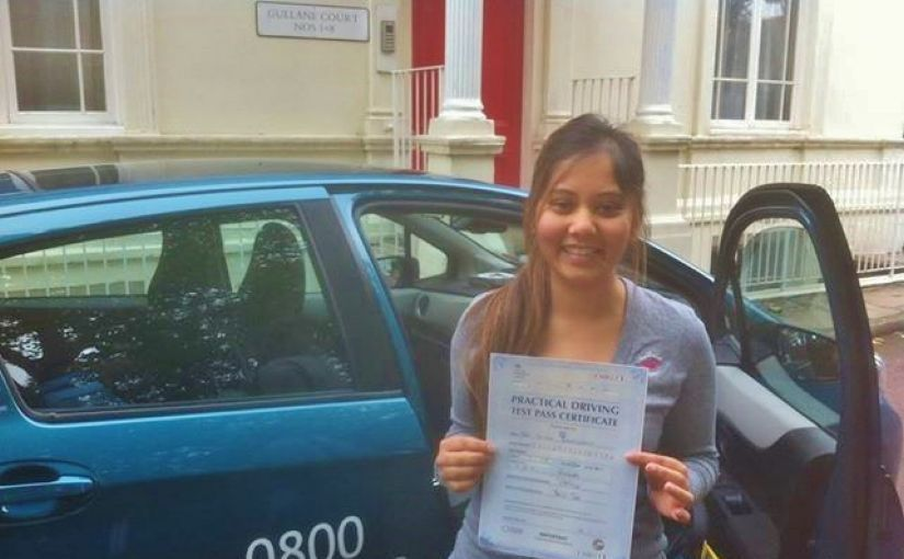 Congratulations to Sattee Ramcharun who passed her driving test at Reading today.