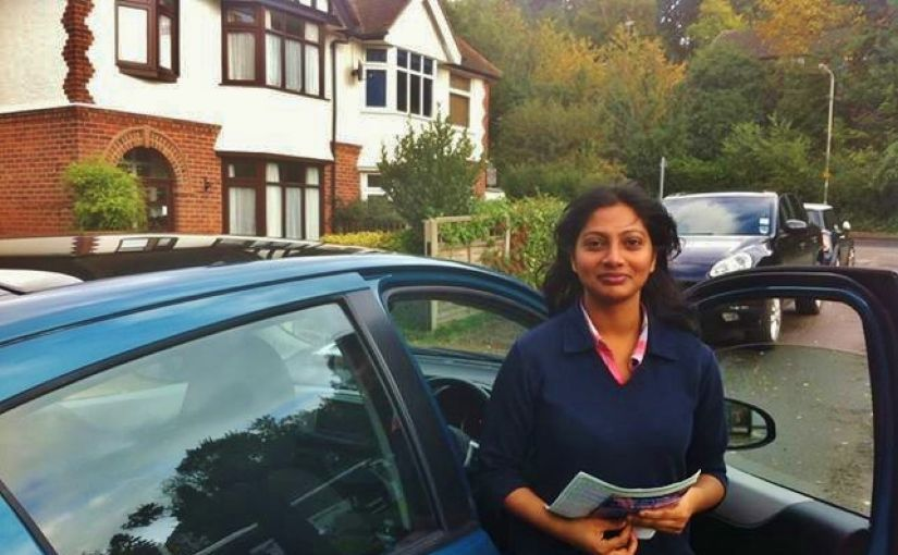 Congratulations to Madhavi on a first-time driving test pass in Reading today