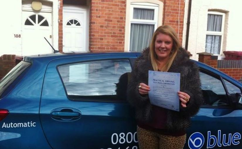 Charlotte Robinson passed her practical driving test in Reading