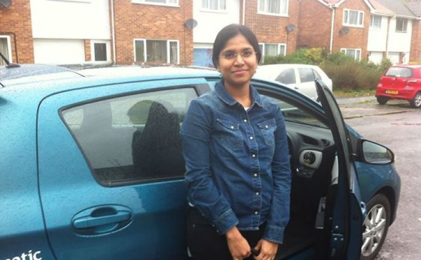 Very well done, Sujatha Korlam, for passing your practical test, first time, in Reading