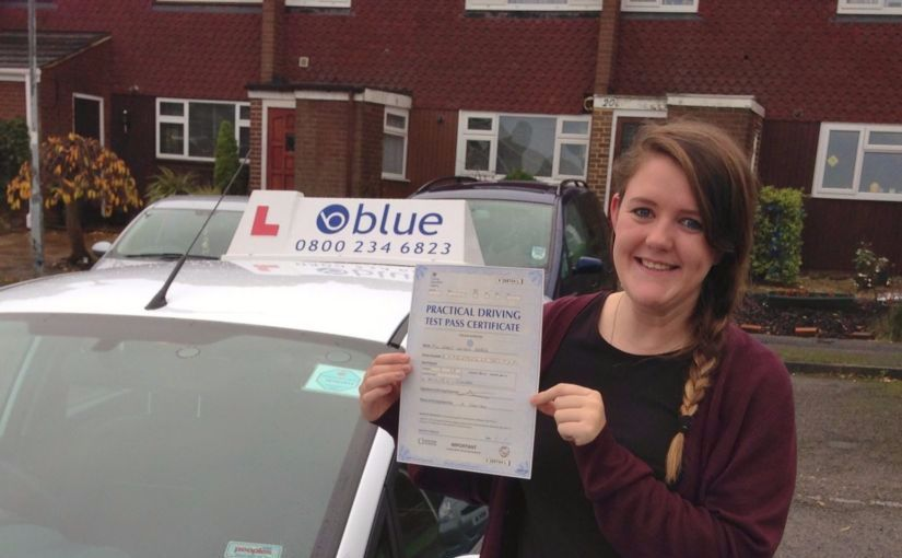 Well done to Keely Barber of Windsor, Berkshire who passed her test this morning in Slough.