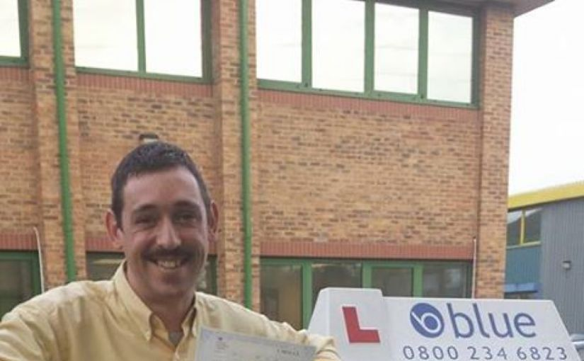 Congratulations Richard from Bracknell, on passing your driving test today first time