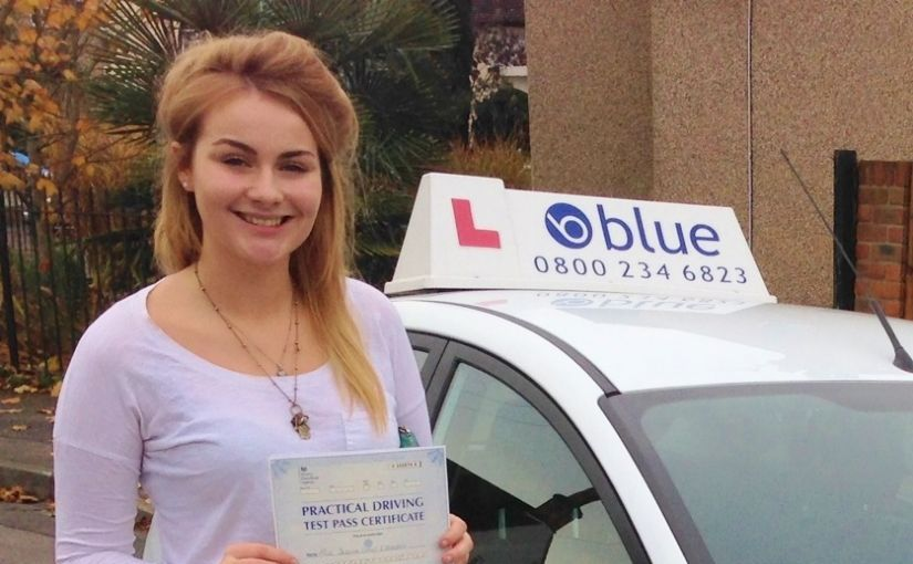Well done to Jessica Appleton of Windsor, Berkshire who passed her practical driving test in Slough