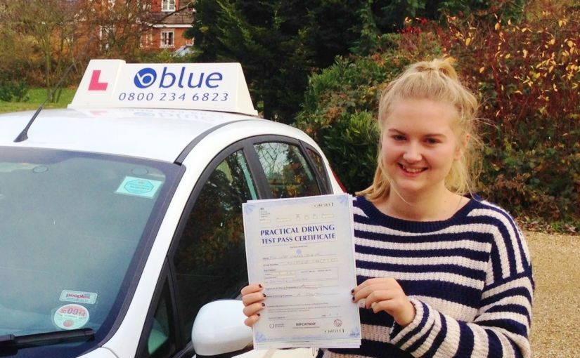 Congratulations to Libby Turner of Warfield, Berkshire who passed her driving test in Slough.