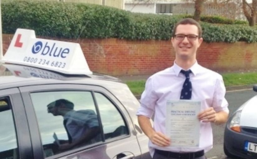 Well done to Chris Mountain of Finchampstead, Berkshire who Passed his driving test in Reading
