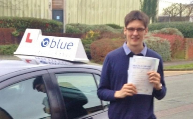 Well done to Connor Macken of Binfield, Bracknell, Berkshire who Passed his driving test in Reading on his very FIRST attempt