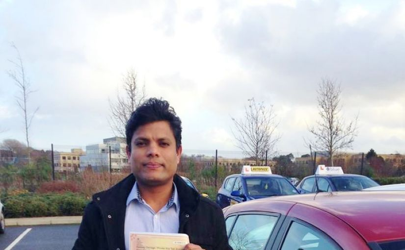 Well done Venkat from Bracknell who passed his Taxi Driving Test today in Farnborough