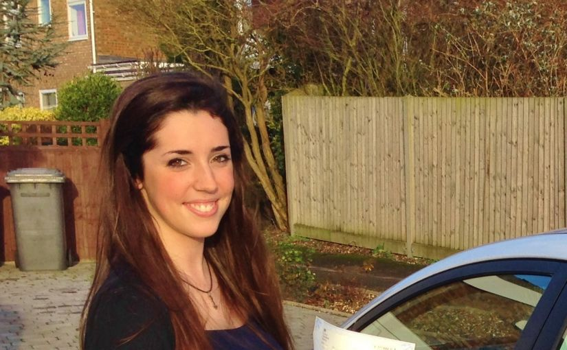 Congratulations to Bronagh of Maidenhead, Berkshire, who passed her driving test in Slough