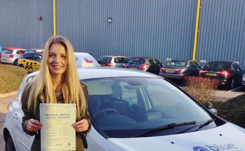Great result for Gemma of Bracknell who passed her driving test today First Time