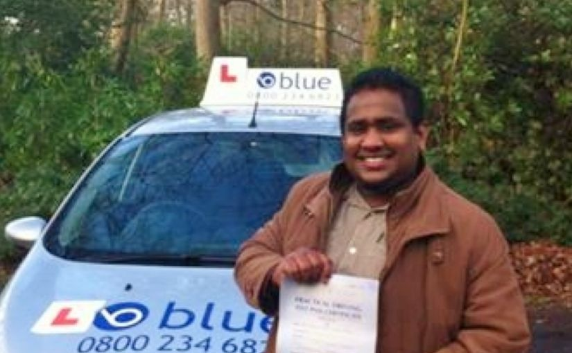 Congratulations to Prasanna from Bracknell for passing his driving test