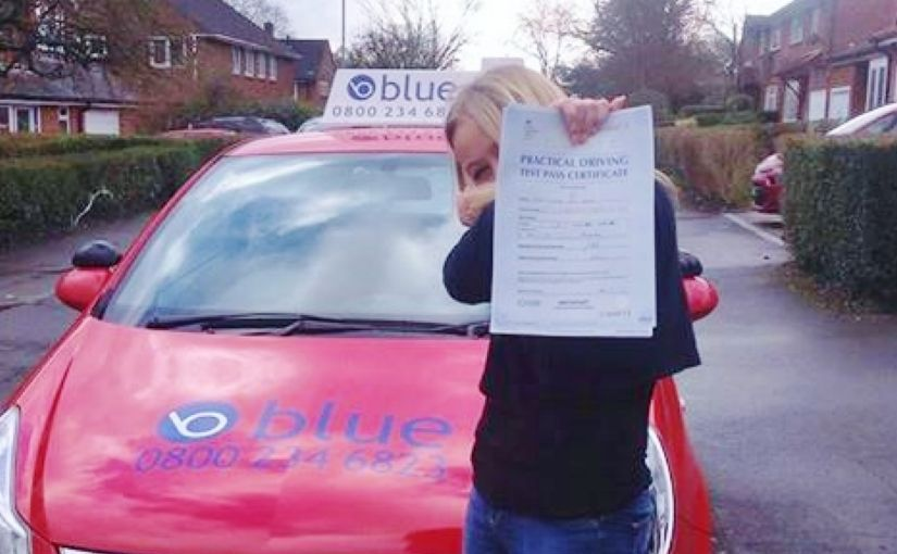 Well done Chloe Wise of Bracknell, Berkshire on passing your driving test today at Reading