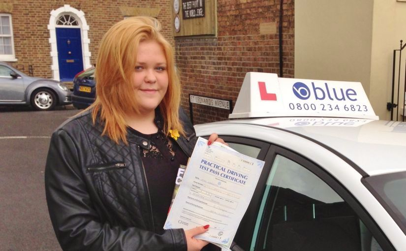 Well done to Charlotte Stone, who passed her test today in Slough