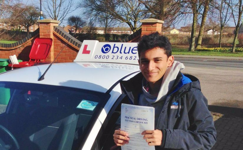 Congratulations to Hamzah Khan who passed his driving test in Slough