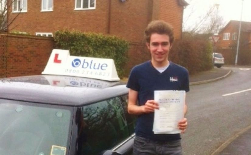 Congratulations to James Cummings from Bracknell on passing your driving test in Chertsey on your FIRST attempt