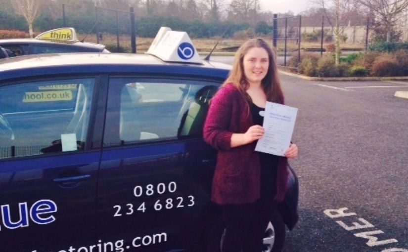 Katie Myall From Sandhurst passed her driving test in Farnborough