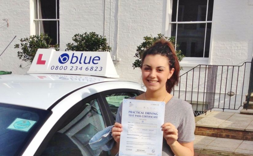 Windsor girl Izzy passes her driving test in Slough