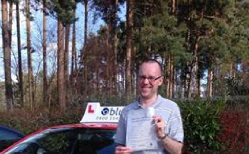 Congratulations Joe Walsh of Bracknell on passing your test at Chertsey
