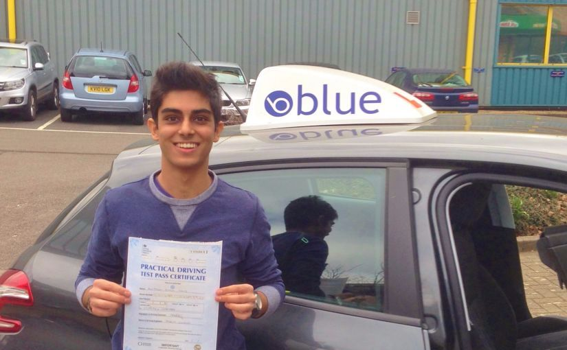 Great result for Tabh Hans of Ascot, Berkshire who passed his driving test First Time
