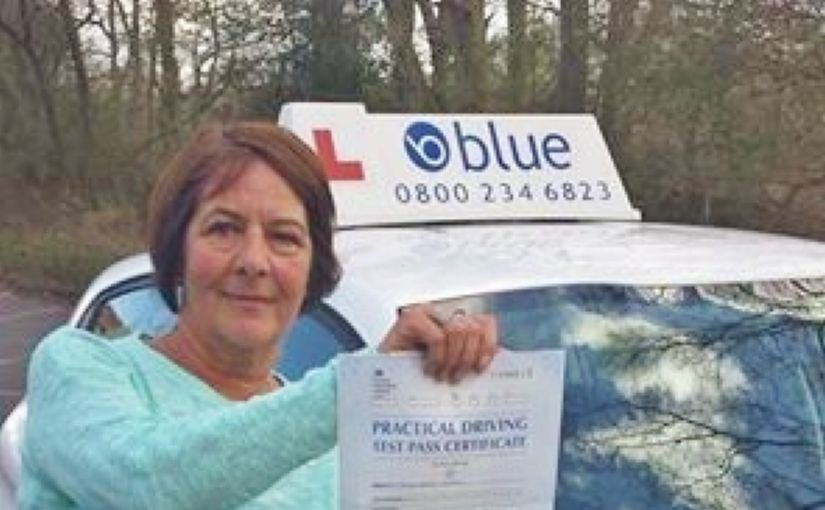 Congratulations Lesley on passing your driving test today at Chertsey