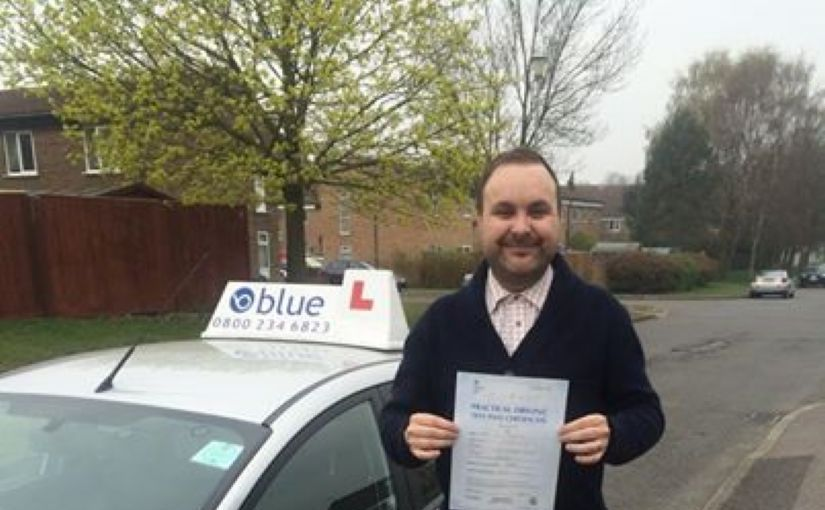 Congratulations to Dan of Birch Hill for passing his driving test first time today in Chertsey