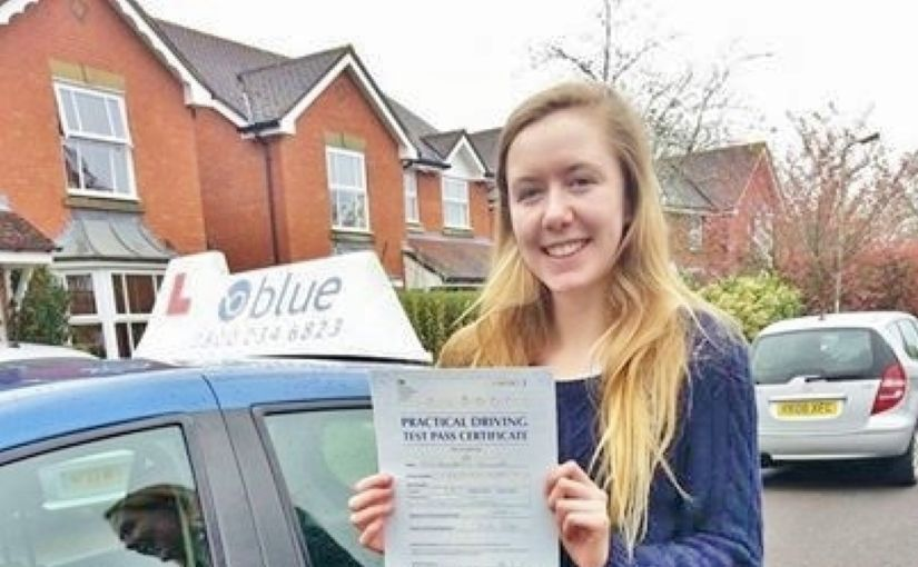 Congratulations to Annie Carminke of Woodley on passing your driving test at Reading