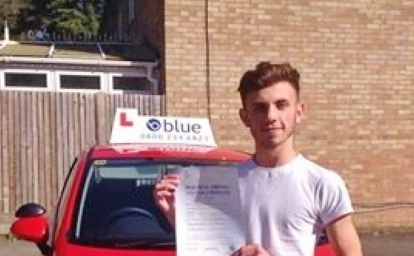 Congratulations Joe Chaplin-Smith, from Bracknell on passing your test at Chertsey today 1st time