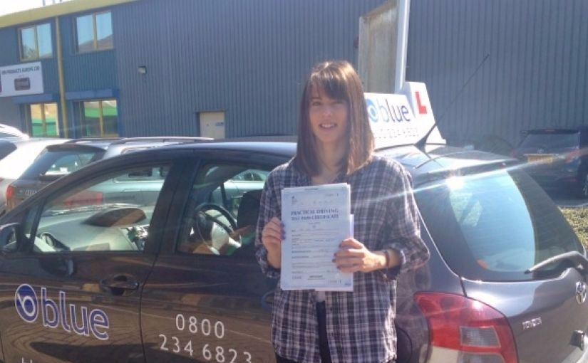 Great result for Sian Wiginton of Ascot, Berkshire who passed her driving test First Time